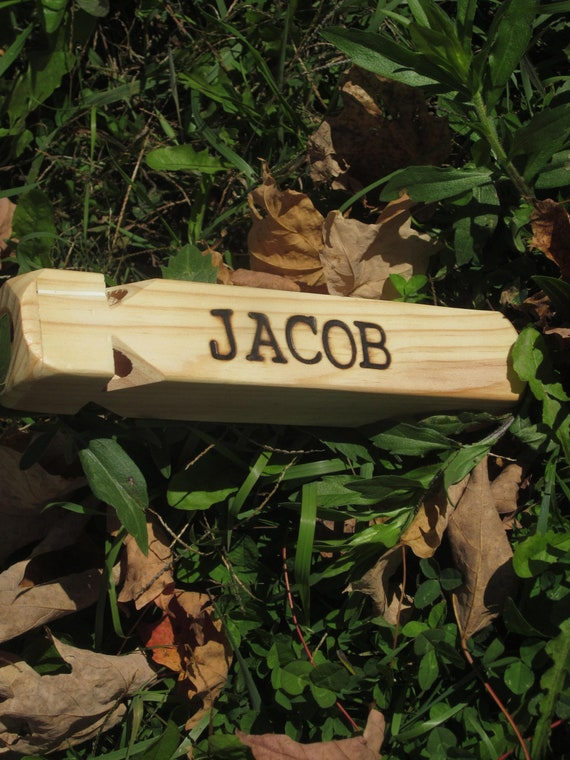Wood burned Personalized Train Whistle wooden toy gift custom you ...