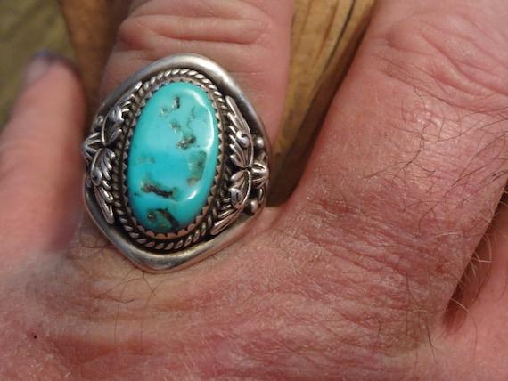 Native American Ring Sterling Silver Running Bear Hallmark Old