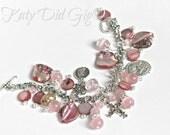 Pink Charm Bracelet FREE SHIPPING