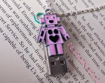 Robot USB charm