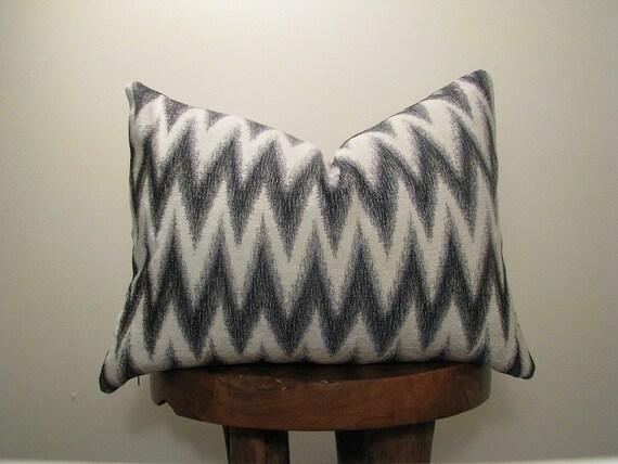 Thin Red Line - Chevron Lumbar Pillow