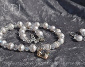 Bridal Jewelry | Pearl Necklace and Earring Set | Bride Necklace | Wedding Day Jewelry | Freshwater Pearls