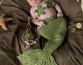 Crochet Baby Mermaid Tail Prop Sets MADE TO ORDER