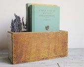 Vintage Wood Box Rustic Industrial Home Decor Wood Storage