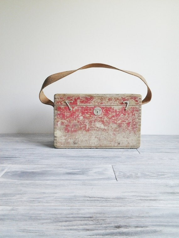 RESERVED: Vintage Red Surveyors Instrument Box Industrial Case
