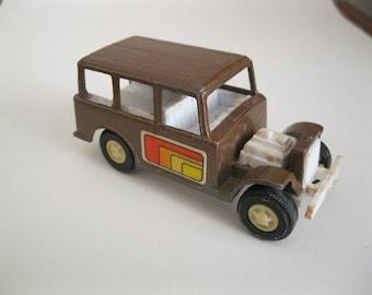 Tootsie Toy Vintage Brown Metal Jeep-like Toy Car