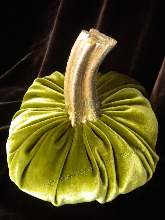 Velvet PUMPKIN - Real Stem - Single - Shimmery Olive Green
