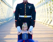 The Marine Brat- United States Marine Inspired Tutu Dress perfect for coming home celebrations
