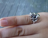 Sterling Silver Maine Coon Cat Ring