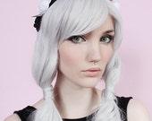 Studs & Roses Pastel White and Black Headband