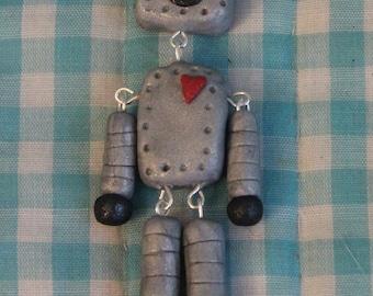 Dangle Robot Necklace
