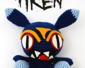 Kitsch Evil Cute Crochet Bunny Amigurumi Iklesik Doll