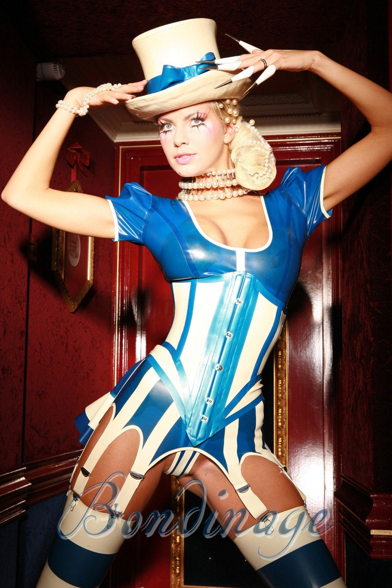 A latex corset and nothing else 4
