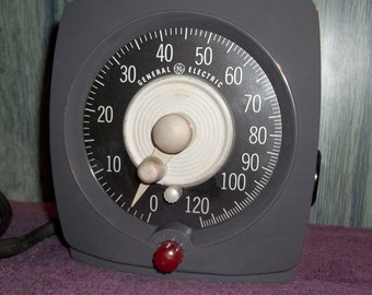 Vintage General Electric Interval Timer T-48 Darkroom Timer Switch Photography Equipment