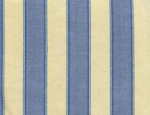 Waverly Polo Stripe Blue Amp Yellow Cotton