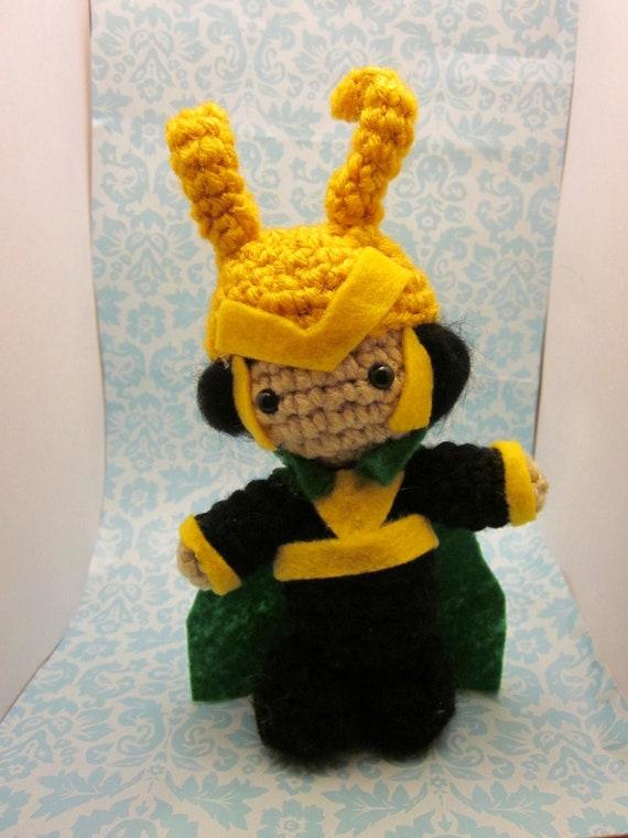Items similar to Thor Inspired Loki Amigurumi Crochet Doll ...