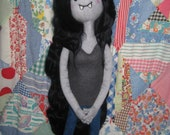 Handmade OOAK Custom Order Needle Felted Plush Doll Inspired by Marceline from Adventure Time