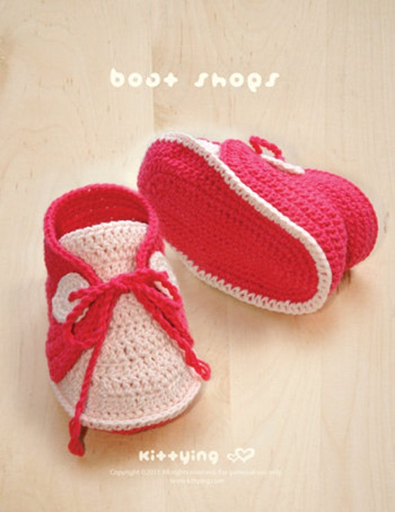 Baby Boat Shoes Crochet PATTERN SYMBOL DIAGRAM pdf by ...