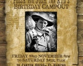 """Wild West """"Wanted Poster"""" Printable Party Invitation - with Photo"""