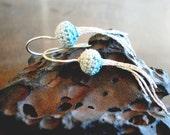 Ombre earrings - blue ombre earrings, ocean inspired, ocean themed, unique earrings, jellyfish earrings, anthropologie