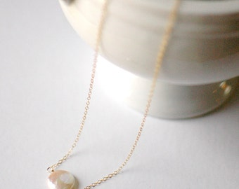 Pearl Disk : Necklace