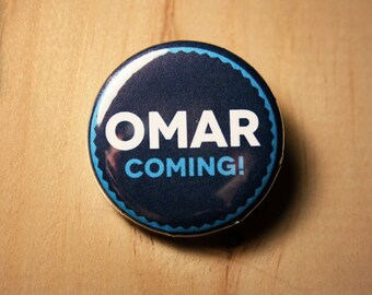 Omar Coming - The Wire  //  1.25 inch button (0026)