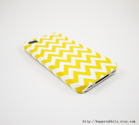 Yellow Chevron iPhone 5 Case, iPhone 5s Case, iPhone 5 Cover, Hard iPhone 5 Case