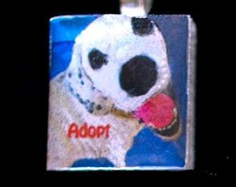 Dog/Adopt Scrabble Tile Pendant