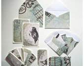 16 Pc - Bird Cage - Blank Cards and Envelopes