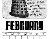 2016 Wall Calendar, Printable, Doctor Who