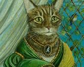 "CUSTOM ORIGINAL Pet Portrait in the Renaissance Style 8"" x 10"" painting"