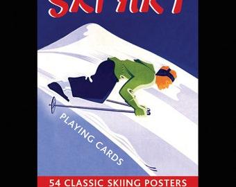 Ski Art playing cards