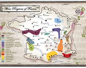 Wine Regions of France (8x10)