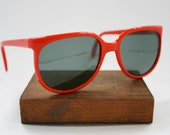 Vintage Red Sunglasses / Unisex