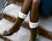 Knitted Wool Boot Cuffs-Boot Socks-Boot Toppers- Hand Knit!