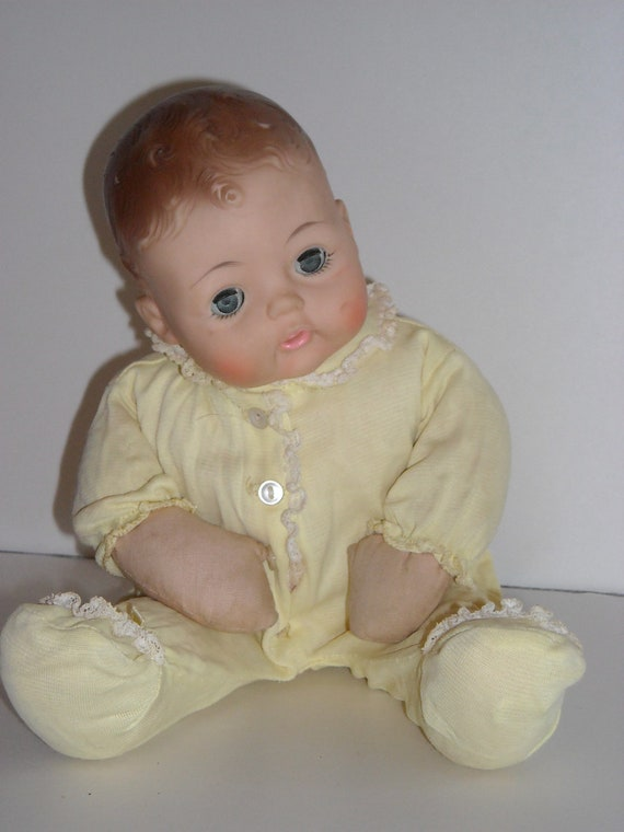 1964 Madame Alexander Huggums Baby Doll With Original Clothes