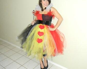 Adult Queen of Hearts Tutu Dress