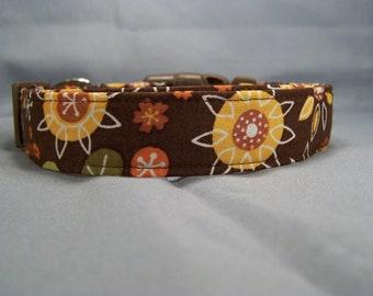 Folk Art Sunflowers Dog Collar
