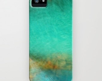 Phone iPhone Case - 5 4 4s 3g 3gs - Samsung Fantasy Ocean 3 - abstract photography - blue - turquoise - aqua