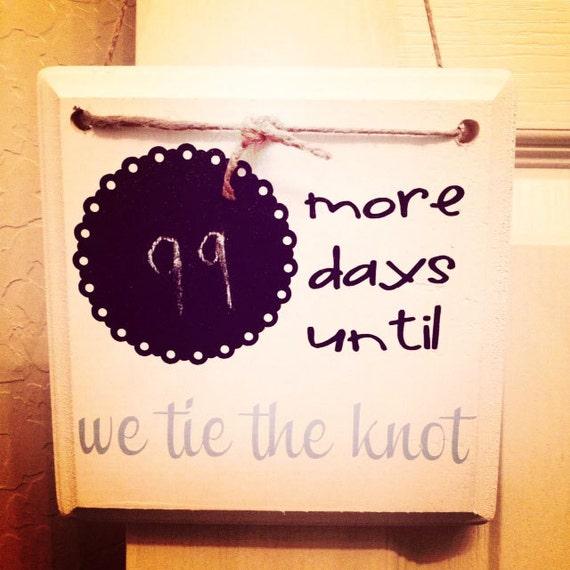 Diy wedding countdown