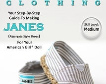 Pixie Faire Liberty Jane JANES Doll Shoe Pattern for 18 inch American Girl Dolls - PDF
