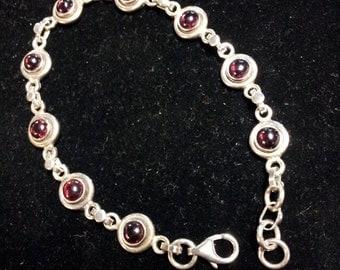 Sterling Garnet Bracelet
