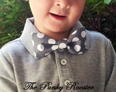 Gray Dots Bow Tie, Clip on Bow Tie, Boys Bow Tie, Toddler Bow Tie, Infant Bow Tie, Gray & White, Polka Dot Bow Tie