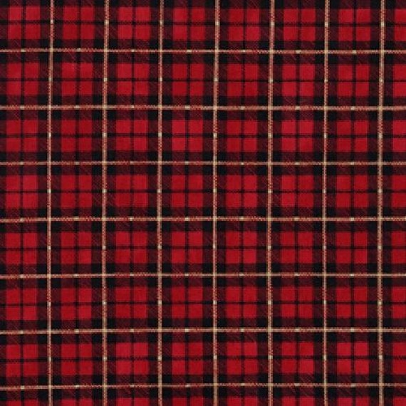 13-Inch Remnant - Tartan Plaid Fabric - Penelope I & III by Holly Holderman for Lakehouse Dry Goods LH 05021 Claret  - Remnant