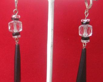 Pair of Antique Crystal Earrings