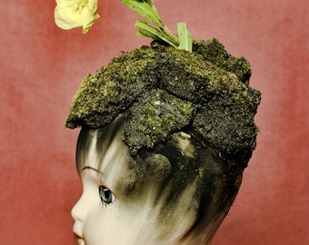 Dirt For Brains FREE SHIPPING Surreal Photo Print Still Life Flower growing out of a dolls head Moss Silhouette Creepy Fine Art Colorful