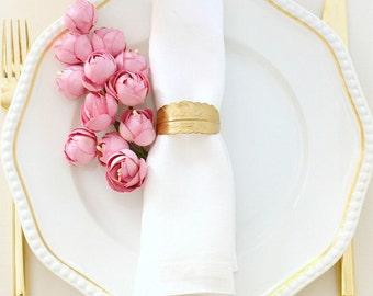 Golden napkin rings  Gold napkin rings  Napkin rings weddings   Ideas for a hostess gift  tabletop decor Best hostess gift  Napkin rings