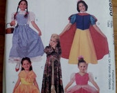 Disney Princess Costume Pattern McCall's 2850 -Aurore, Sleeping Beauty, Belle, Snow White and Dorothy from the Wizard of Oz