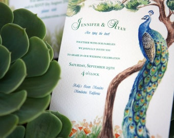 Hand-painted Custom Wedding Invitation Design 2