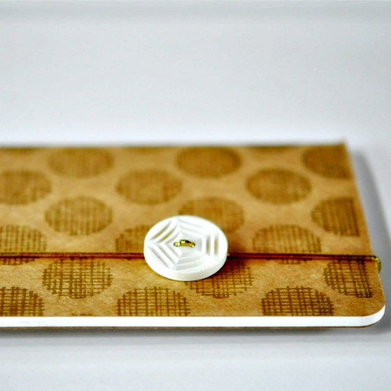 Gold Print Kraft Journal Notebook Moleskine Cahier